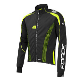 Велокуртка Force X72 light softshell PRO16, black/fluo