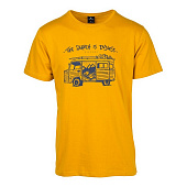 Майка Rip Curl Wagon Ss Tee, golden yellow