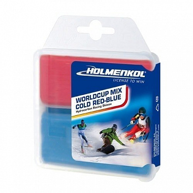 Воск Holmenkol Worldcup MIX COLD Red-Blue 2x35g (-4 / -20°c)