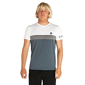 Гидромайка Rip Curl Underline Panel S/S UV Tee, white/navy
