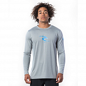 Гидромайка Rip Curl Icon Relaxed L/S UV Tee, light grey marle