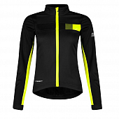 Велокуртка Force Wms Frost Softshell, black/fluo