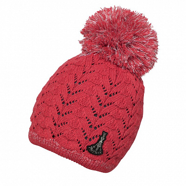 Шапка Phenix Wms Aurora Knit Hat with Pon-Pon, magenta